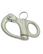 Fixed stainless steel snap shackle